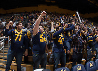 CAL Football players root during the game against Stanford at Haas Pavilion in Berkeley, California on February 5th, 2014.  Stanford defeated California, 80-69.