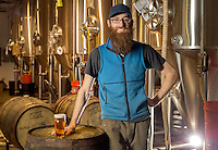 NWA Democrat-Gazette/JASON IVESTER --03/12/2015--<br /> Andy Coates, one of the owners of Ozark Beer Company; photographed on Thursday, March 12, 2015, inside the Rogers brewery