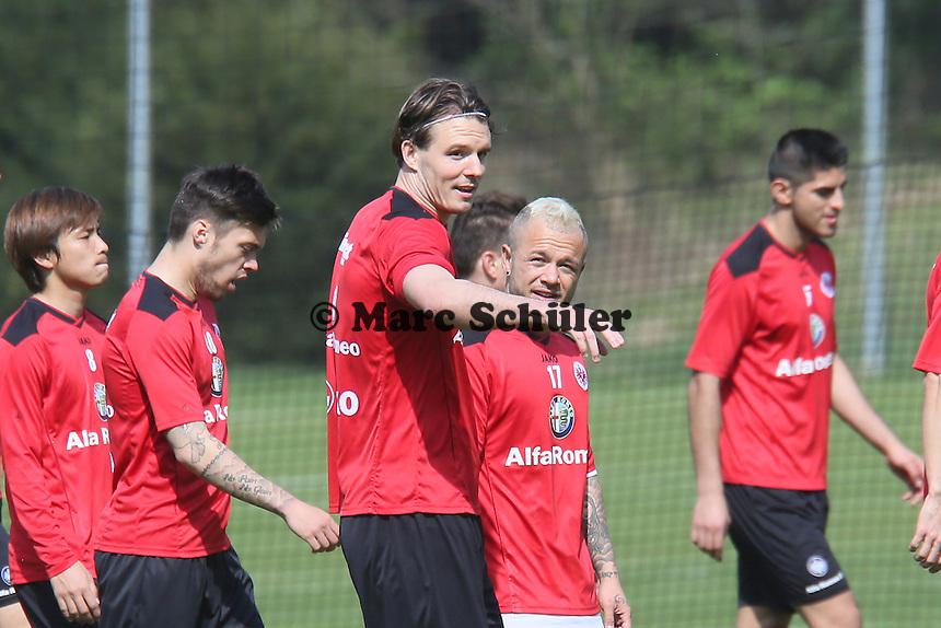 Alex Meier und Stephan Schröck - Eintracht Frankfurt Training