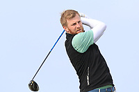 Stephen Walsh (Portmarnock) on the 1st tee during Round 3 of The West of Ireland Open Championship in Co. Sligo Golf Club, Rosses Point, Sligo on Saturday 6th April 2019.<br /> Picture:  Thos Caffrey / www.golffile.ie