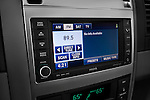 Stereo audio system close up detail view of a 2009 Dodge Durango Hybrid