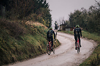 Michael Gogl (AUT/Trek-Segafredo) & Fabio Felline (ITA/Trek-Segafredo) during the reconnaissance of the 12th Strade Bianche 2018