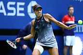 9th September 2017, FLushing Meadows, New York, USA;  MADISON KEYS (USA) during the women's finals match of the 2017 US Open tennis tournament  at Billie Jean King National Tennis Center in Flushing Meadow, NY.