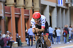 Valerio Conti (ITA) UAE Team Emirates in action during Stage 1 of the 2019 Giro d'Italia, an individual time trial running 8km from Bologna to the Sanctuary of San Luca, Bologna, Italy. 11th May 2019.<br /> Picture: Eoin Clarke | Cyclefile<br /> <br /> All photos usage must carry mandatory copyright credit (© Cyclefile | Eoin Clarke)