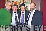 Jackie, Michael and Danny Healy Rae pictured with John O'Donoghue, Farranfore, at their convention in the Gleneagle on Thursday night.