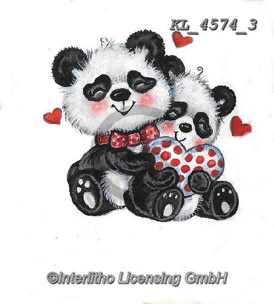 VALENTINE, VALENTIN, paintings+++++,KL4574/3,#v#, EVERYDAY ,sticker,stickers,panda,pandas
