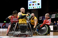 Chris Bond (AUS)  vs Japan<br /> Australian Wheelchair Rugby Team<br /> 2018 IWRF WheelChair Rugby <br /> World Championship / Day 4<br /> Sydney  NSW Australia<br /> Wednesday 8th August 2018<br /> © Sport the library / Jeff Crow / APC