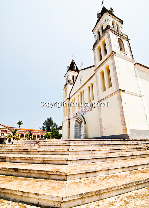 The Sao Tomé chatedral was built in the 16th century by the Portoguese who came to the island to find more land for the sugar cane plantations