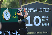 Sean Crocker (USA) in action during the first round of the Turkish Airlines Open, Montgomerie Maxx Royal Golf Club, Belek, Turkey. 07/11/2019<br /> Picture: Golffile | Phil INGLIS<br /> <br /> <br /> All photo usage must carry mandatory copyright credit (© Golffile | Phil INGLIS)