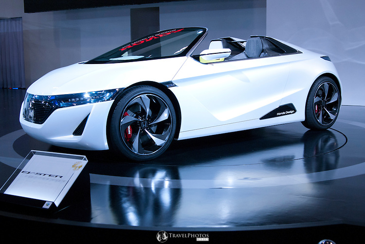 The new Honda EV-Ster on display at the Nagoya Motor Show.