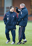 Ally McCoist with physio Gary Sherriff the Rangers strength and conditioning coach