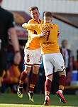 30.03.2019 Motherwell v St Johnstone: Elliott Frear celebrates his opening goal for Motherwell