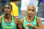 Gomes Felipe &amp; De Lima Silva Jonas (BRA), <br /> SEPTEMBER 11, 2016 - Athletics : <br /> Men's 100m T11 Final <br /> at Olympic Stadium<br /> during the Rio 2016 Paralympic Games in Rio de Janeiro, Brazil.<br /> (Photo by AFLO SPORT)