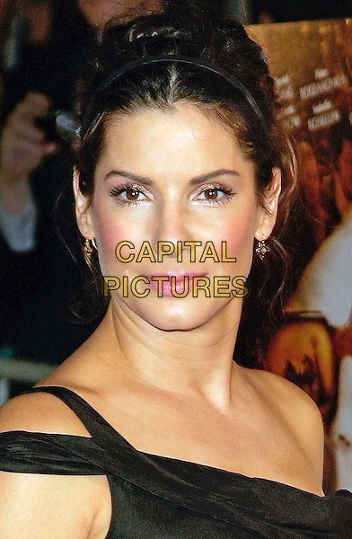 "SANDRA BULLOCK.at the NY Premiere of ""Infamous"" at DGA Theatre,.New York, NY, USA, 9 October 2006..portrait headshot black dress off the shoulder pink lips lipgloss hair up updo hairband alice band hair blusher.Ref: ADM/JL.www.capitalpictures.com.sales@capitalpictures.com.©Jackson Lee/AdMedia/Capital Pictures."