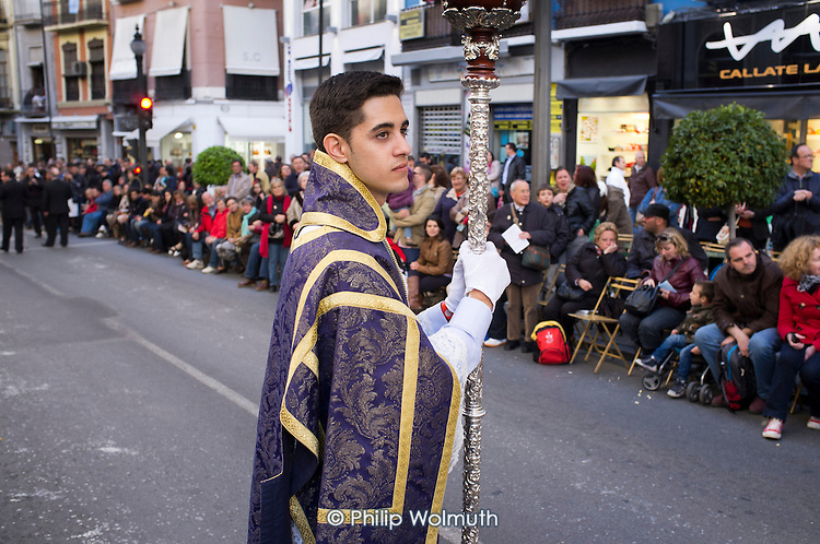 La Magna Maria, a parade of statues of the Virgin Mary through the streets of Granada to mark the 100th anniversary of the canonisation of Nuestra Senora de las Augustias as patron saint of the city.
