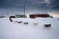 Melanie Gould On Road Into Shaktoolik 2004 Iditarod