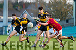 Tony Brosnan Dr Crokes in action against Gordon Kelly St Joseph's Miltown Malbay during the AIB Munster GAA Football Senior Club Championship Final match between Dr. Crokes and St. Josephs Miltown Malbay at the Gaelic Grounds in Limerick on Sunday.