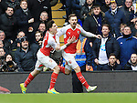 Arsenal's Aaron Ramsey celebrates scoring his sides opening goal <br /> <br /> - English Premier League - Tottenham Hotspur vs Arsenal  - White Hart Lane - London - England - 5th March 2016 - Pic David Klein/Sportimage