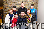 Going to see Springtime Variety Show by The Churchill Players drama group in Siamsa Tire on Friday night All the way from Clonkeen in Killarney Front L-r Annie O Donoghue, Maeve Darcy, Muireann Darcy, and Siobhan Darcy. Back L-R Patrick Darcy, Rory Darcy and Kevin Darcy.