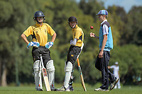 Action from the 2018 Junior NZ Secondary School Cricket Boys' Tournament Finals match between Wellington College and King's High School at Manawaroa Park in Palmerston North, New Zealand on Friday, 23 March 2018.. Photo: Dave Lintott / lintottphoto.co.nz