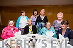 Lixnaw Senior Citizens of the St Vincent De Paul day Trip to Dingle enjoyed Tea at Ballyroe Heights Hotel on there return on Thursday Pictured front l-r Maureen Quilter, Ann Rohan, Sadie Parkinson and Joan Moriarty. Back l-r Helen Cronin, Helen O'Carroll, Mary Griffin and Mary Heaphy