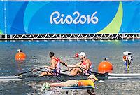 Rio de Janeiro. BRAZIL.   CRP M2X. Bow.  Martin  SINKOVIC and Valent<br /> SINKOVIC, 2016 Olympic Rowing Regatta. Lagoa Stadium,<br /> Copacabana,  &ldquo;Olympic Summer Games&rdquo;<br /> Rodrigo de Freitas Lagoon, Lagoa. Local Time 12:06:11   Saturday  06/08/2016 <br /> <br /> [Mandatory Credit; Peter SPURRIER/Intersport Images]