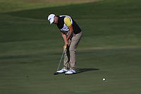 Bryce Easton (RSA) on the 4th green during Round 3 of the Challenge Tour Grand Final 2019 at Club de Golf Alcanada, Port d'Alcúdia, Mallorca, Spain on Saturday 9th November 2019.<br /> Picture:  Thos Caffrey / Golffile<br /> <br /> All photo usage must carry mandatory copyright credit (© Golffile | Thos Caffrey)