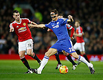 Nemanja Matic of Chelsea tussles with Morgan Schneiderlin of Manchester United - English Premier League - Manchester Utd vs Chelsea - Old Trafford Stadium - Manchester - England - 28th December 2015 - Picture Simon Bellis/Sportimage