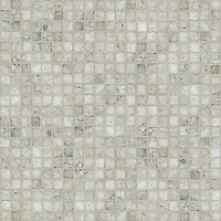 Gridded 3 cm, a hand-cut stone mosaic, shown in polished Socorro Grey.