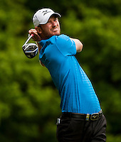 24.05.2015. Wentworth, England. BMW PGA Golf Championship. Final Round.  Chris Wood [ENG] Tee shot 3rd hole during the final round of the 2015 BMW PGA Championship from The West Course Wentworth Golf Club
