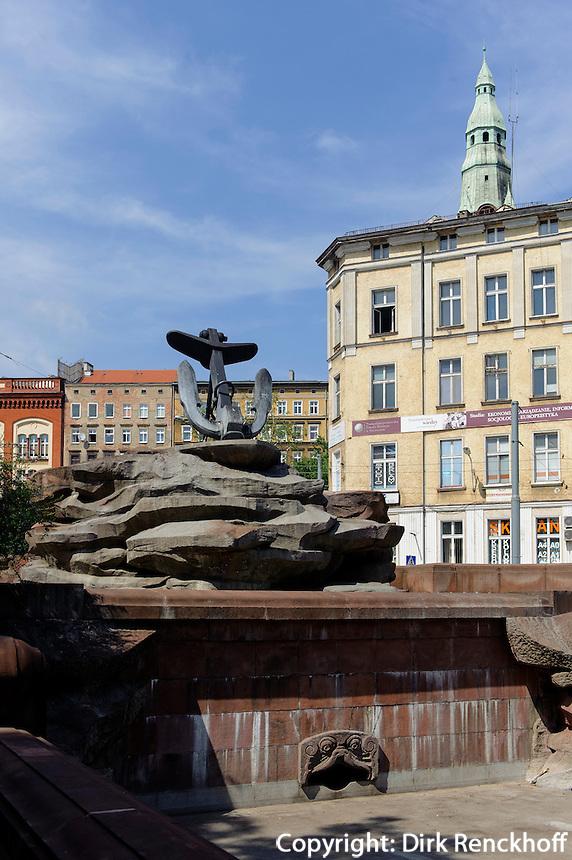 Menzel-Brunnen in Stettin (Szczecin), Woiwodschaft Westpommern (Wojew&oacute;dztwo zachodniopomorskie), Polen, Europa<br /> Menzel-Fountain  in Szczecin, Poland, Europe