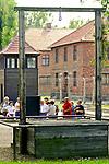Gallows next to crematorium No. 1, where in 1947 the commandant of the Auschwitz camp and Rudolf Hoess was hanged.<br /> Szubiennica obok krematorium nr 1, gdzie w 1947 r. Powieszono dowódcę obozu Auschwitz i Rudolf Hoess.