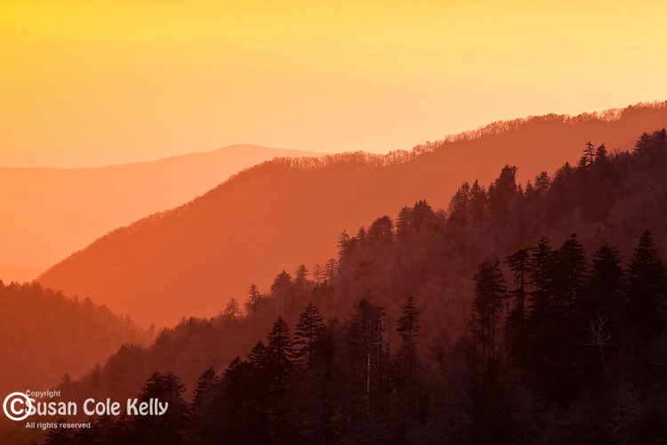 Sunset at Mortons Overlook, Great Smoky Mountains National Park, TN, USA