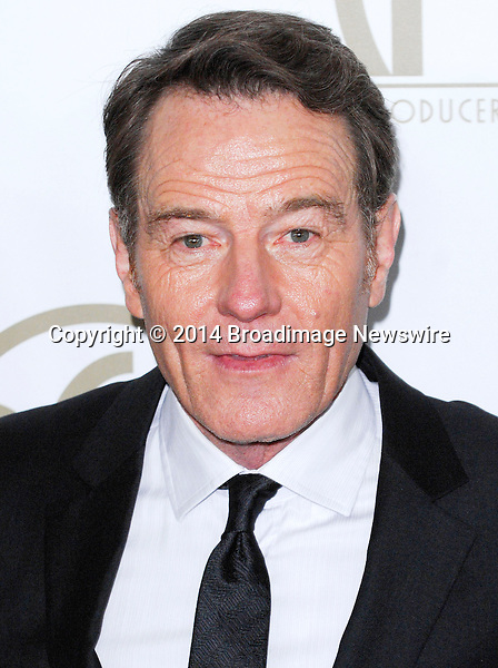Pictured: Bryan Cranston<br /> Mandatory Credit &copy; Adhemar Sburlati/Broadimage<br /> The 25th Annual Producers Guild of America Awards<br /> <br /> 1/19/14, Los Angeles, California, United States of America<br /> <br /> Broadimage Newswire<br /> Los Angeles 1+  (310) 301-1027<br /> New York      1+  (646) 827-9134<br /> sales@broadimage.com<br /> http://www.broadimage.com