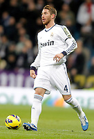 Real Madrid's Sergio Ramos during La Liga Match. December 01, 2012. (ALTERPHOTOS/Alvaro Hernandez)
