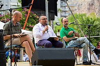 (From L to R) Aaron Pettinari - Editor in chief ANTIMAFIADuemila, http://www.antimafiaduemila.com/ , Calogero Montante - Lawyer & Fabio Repici - Lawyer. <br />