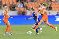 Houston, TX - Sunday Sept. 25, 2016: Denise O'Sullivan, Kim Little, Morgan Brian during a regular season National Women's Soccer League (NWSL) match between the Houston Dash and the Seattle Reign FC at BBVA Compass Stadium.