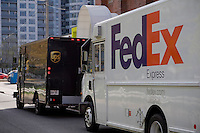 A FedEx delivery truck is seen in Toronto April 19, 2010.