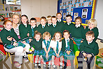 Aghatubrid National School had 15 new students start school on Thursday last pictured here front l-r; Cara McCrohan, Orla Fitzgerald, Si?ne O'Neill, Laura Coyle, Jake Moriarty, back l-r; Ella Sheehan, Sine?ad Clifford(Principal/Teacher), Caoilinn Lynch, Brian O'Connell, Adam Walsh, Fintan O'Sullivan, Stephen O'Sullivan, Jason Corcoran, David Murphy, Siu?n Fitzgerald & Zach O'Driscoll.