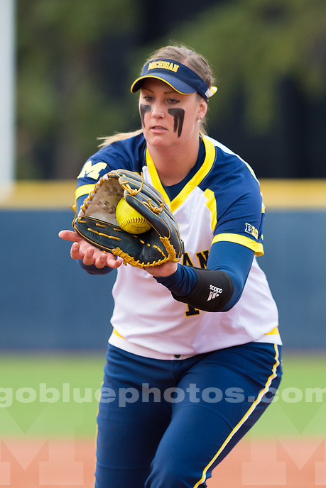 The University of Michigan softball team beats MSU, 8-0, in five innings at Alumni Field in Ann Arbor on April 19, 2016.