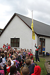 Raising of the New Health Awareness Initiative Flag at Callystown National School, Clogherhead...(Photo credit should read Jenny Matthews www.newsfile.ie)....This Picture has been sent you under the conditions enclosed by:.Newsfile Ltd..The Studio,.Millmount Abbey,.Drogheda,.Co Meath..Ireland..Tel: +353(0)41-9871240.Fax: +353(0)41-9871260.GSM: +353(0)86-2500958.email: pictures@newsfile.ie.www.newsfile.ie.
