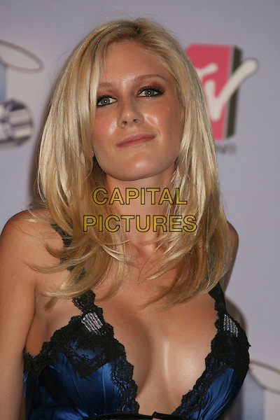 HEIDI MONTAG.2007 MTV Movie Awards held at the Gibson Amphitheater, Universal City, California, USA..June 3rd, 2007.headshot portrait plunging neckline cleavage blue black lace .CAP/ADM/RE.©Russ Elliot/AdMedia/Capital Pictures *** Local Caption *** ...