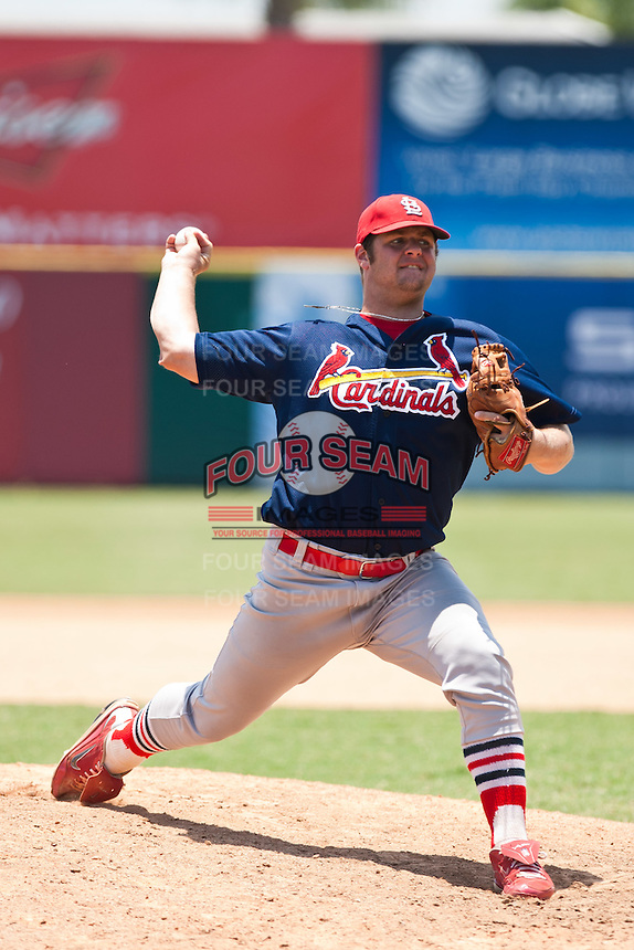 Cole Brand of the Gulf Coast League Cardinals during the game at Space Coast Stadium in Viera, Florida July 11 2010.  Photo By Scott Jontes/Four Seam Images