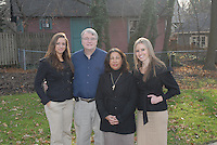WAYNE, PA - DECEMBER 15, 2012: The Mozulay family is photographed at St. David's Park December 15, 2012 in Wayne, Pennsylvania. (Photo by William Thomas Cain/Cain Images)