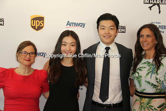 Sharon Cohen - Maia & Alex Shibutani - Ellen Lowey at Figure Skating in Harlem's Champions in Life (in its 21st year) Benefit Gala recognizing the medal-winning 2018 US Olympic Figure Skating Team on May 1, 2018 at Pier Sixty at Chelsea Piers, New York City, New York. (Photo by Sue Coflin/Max Photo)