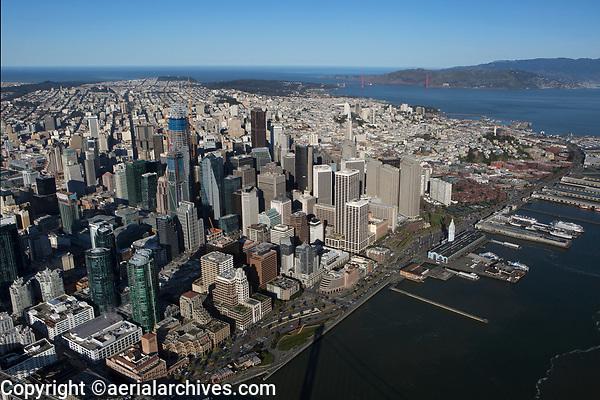 aerial photograph waterfront, San Francisco, California