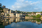 A small village overlooking the Lot River in Southwest France.