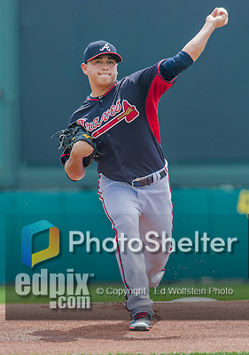 19 March 2015: Atlanta Braves pitcher Manny Banuelos on the mound during a Spring Training game against the Miami Marlins at Champion Stadium in the ESPN Wide World of Sports Complex in Kissimmee, Florida. The Braves defeated the Marlins 6-3 in Grapefruit League play. Mandatory Credit: Ed Wolfstein Photo *** RAW (NEF) Image File Available ***