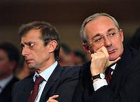 Roma, 19/11/2004<br /> <br /> Manifestazione dello SDI dedicata a Pietro Nenni.<br /> <br /> Nella foto: Piero Fassino,Segretario generale dei DS, ed Enrico Boselli, Presidente dei SDI.