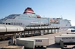 Acciona Trasmediterranea ferry terminal for Melilla at port of Malaga, Spain